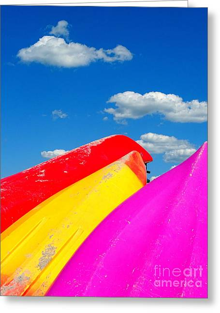 Sand Art Greeting Cards - Summer Colors Greeting Card by Ed Weidman