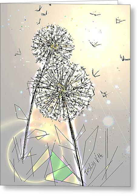 Enhanced Pastels Greeting Cards - Summer Come Softly Greeting Card by Desline Vitto
