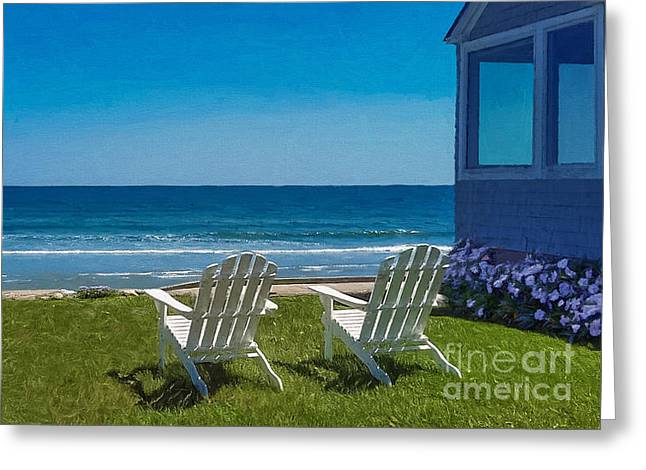 Summer Comes To Higgins Beach Greeting Card by M S McKenzie