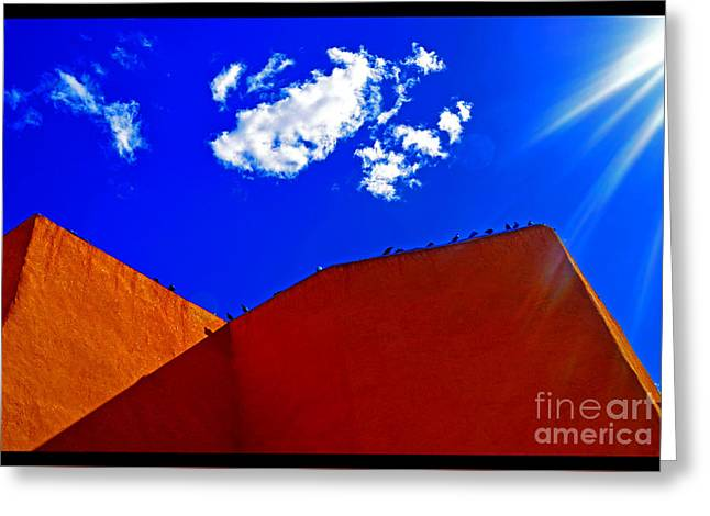 Taos Digital Greeting Cards - Summer Day in the New World Greeting Card by Susanne Still