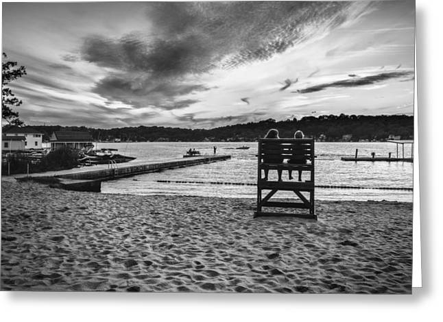 Mt Digital Greeting Cards - Summer days black and white version Greeting Card by Eduard Moldoveanu