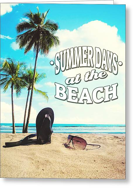 Retro Typography Greeting Cards - Summer Days Greeting Card by Nicklas Gustafsson