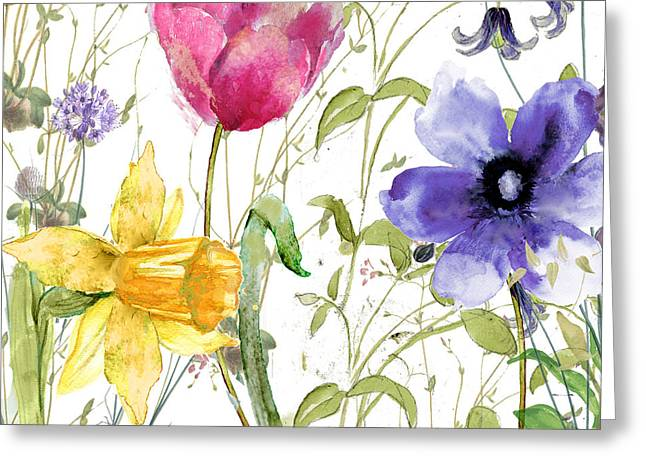 Wild Grass Greeting Cards - Summer Diary Greeting Card by Mindy Sommers