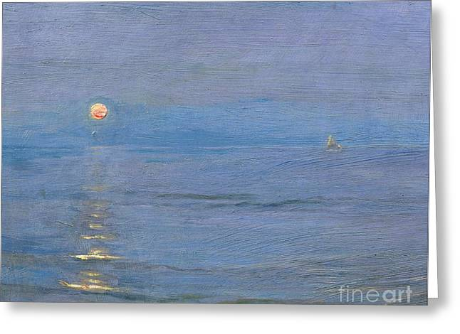 Yachting Greeting Cards - Summer Evening Greeting Card by PS Kroyer