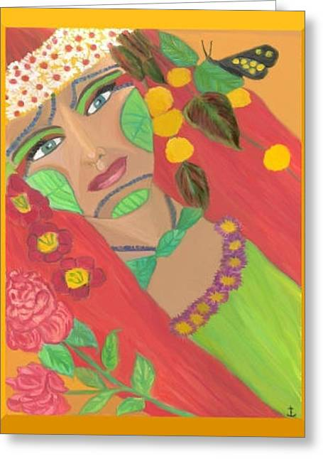 Fineart Pastels Greeting Cards - Summer Fairy Greeting Card by Angela Anchor