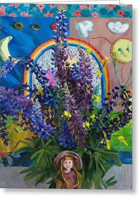 Summer Fairytale Greeting Card by Victoria Kharchenko