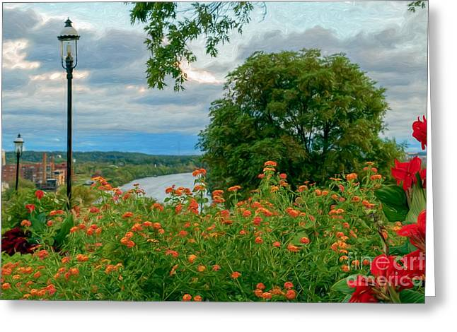 River View Greeting Cards - Summer Florals Greeting Card by Ava Reaves
