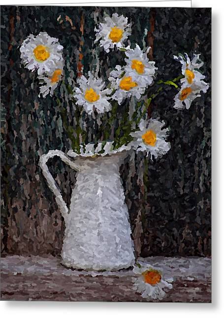 Interior Still Life Digital Greeting Cards - Summer flower Greeting Card by Yury Malkov