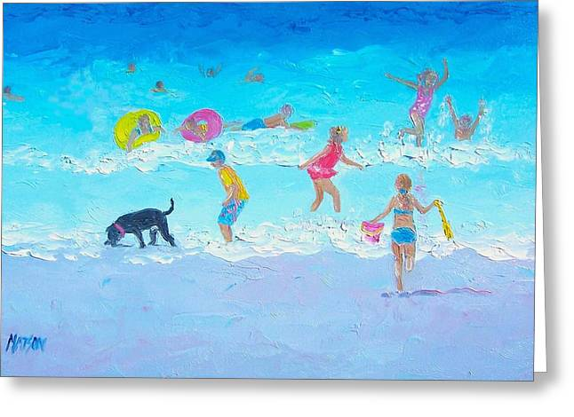 Beach Decor Posters Greeting Cards - Summer Fun Greeting Card by Jan Matson