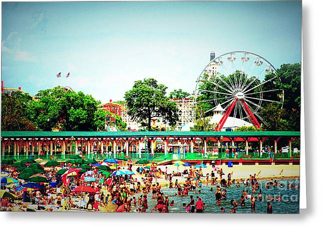 York Beach Greeting Cards - Summer Fun Greeting Card by Keith Rousseau