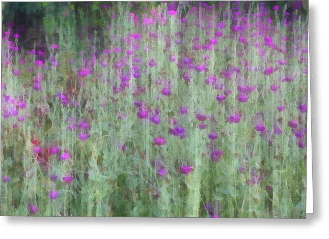 Abstract Nature Greeting Cards - Summer Garden Impression - flower art Greeting Card by Ann Powell