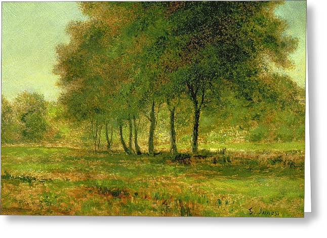 Signature Greeting Cards - Summer Greeting Card by George Snr Inness