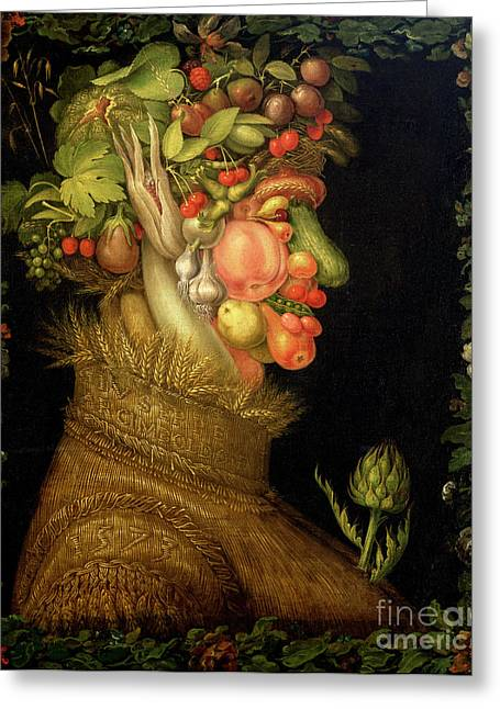 Personification Greeting Cards - Summer Greeting Card by Giuseppe Arcimboldo
