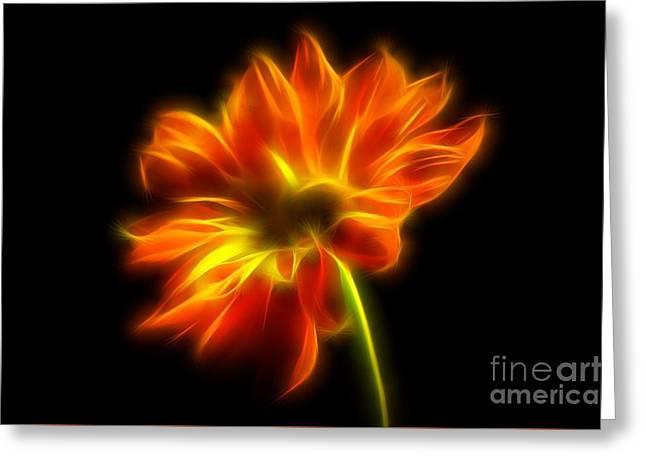 Summer Glow Greeting Card by Krissy Katsimbras
