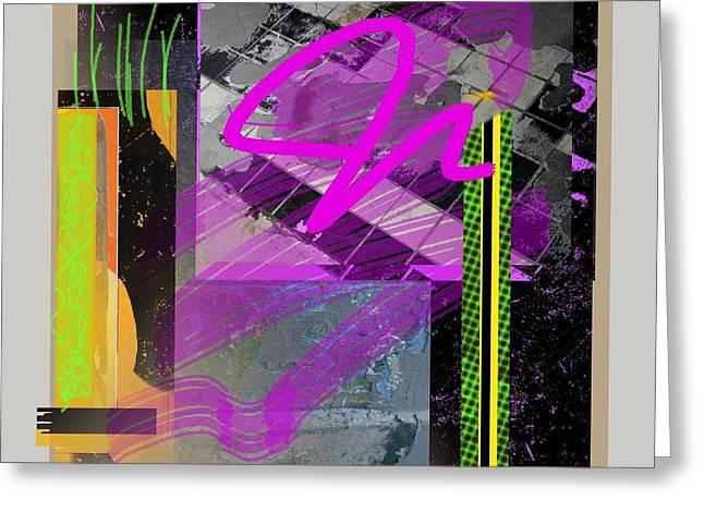 Abstract Handbag Drawing Greeting Cards - Summer Grass  Greeting Card by Janis Kirstein