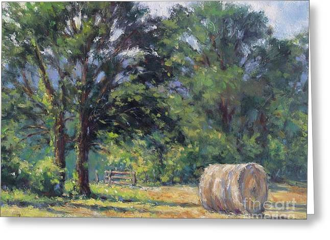 Summer Hay At The Ranch Greeting Card by Vickie Fears