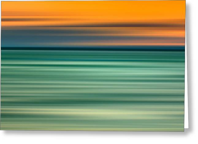 Abstracts Art Photographs Greeting Cards - Summer Haze Greeting Card by Az Jackson