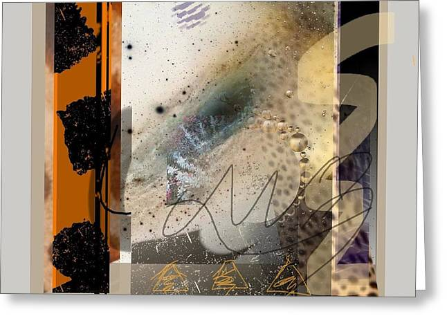 Abstract Handbag Drawing Greeting Cards - Summer Heat 1 Greeting Card by Janis Kirstein