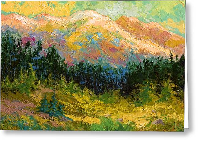 Alaska Greeting Cards - Summer High Country Greeting Card by Marion Rose