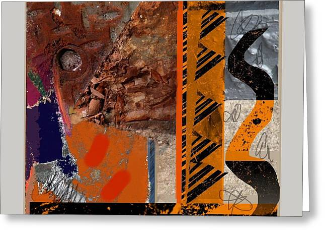 Abstract Handbag Drawing Greeting Cards - Summer Hot Metal Greeting Card by Janis Kirstein
