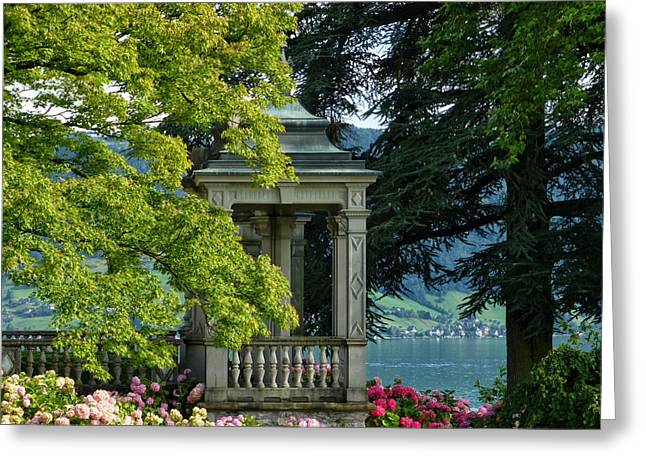 Luzern Greeting Cards - Summer Idyll Greeting Card by Connie Handscomb