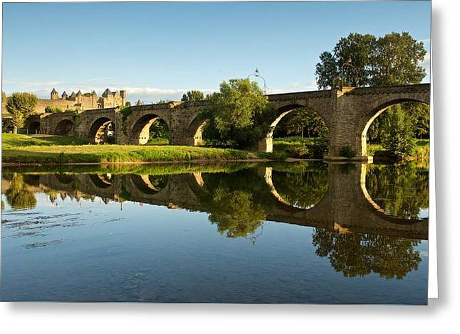 Languedoc Digital Greeting Cards - Summer in Carcassonne Greeting Card by Stephen Taylor