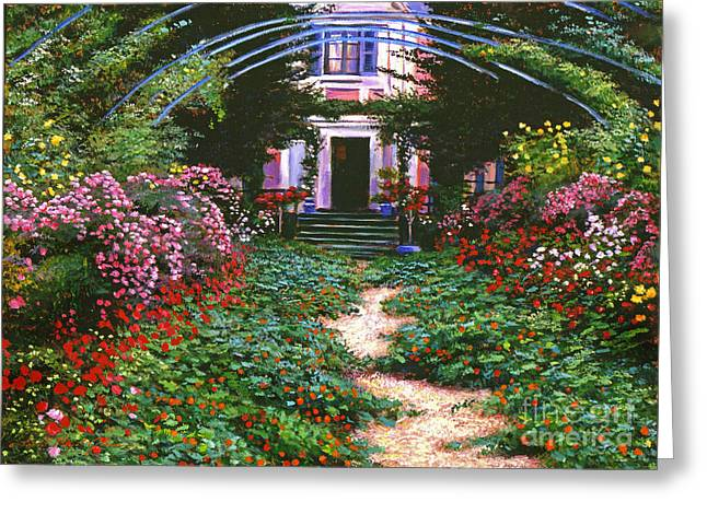 Giverny Greeting Cards - Summer in Giverny Greeting Card by David Lloyd Glover