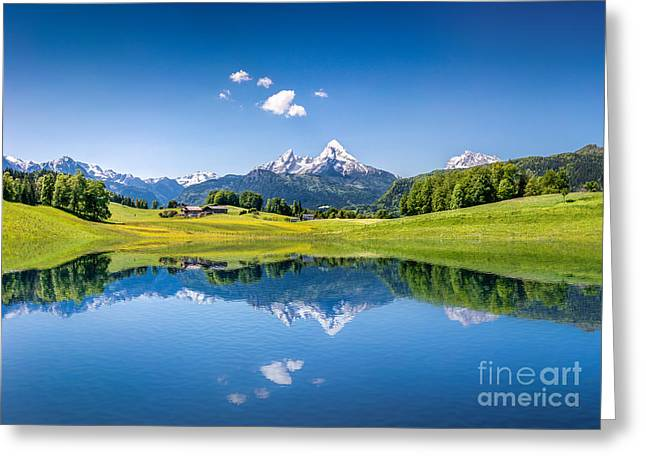 Salzburg Greeting Cards - Summer in the Alps Greeting Card by JR Photography