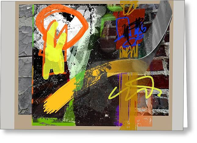 Abstract Handbag Drawing Greeting Cards - Summer in the City 1 Greeting Card by Janis Kirstein