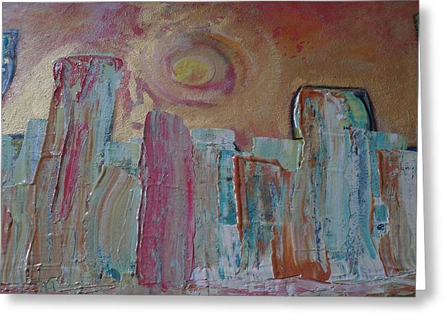 Sunset Abstract Greeting Cards - Summer In The City Greeting Card by Karen Butscha