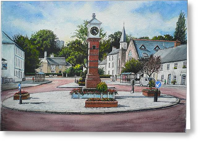 Summer In The Square Greeting Card by Andrew Read
