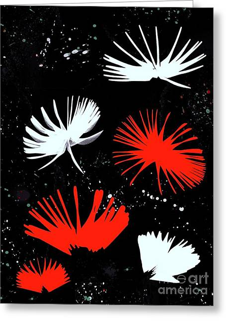 White Red Flowers Greeting Cards - Summer Joy - 33 - Florelle Greeting Card by Variance Collections