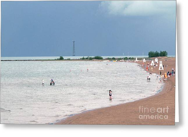 Swimmers Greeting Cards - Summer Lake Greeting Card by David Bearden