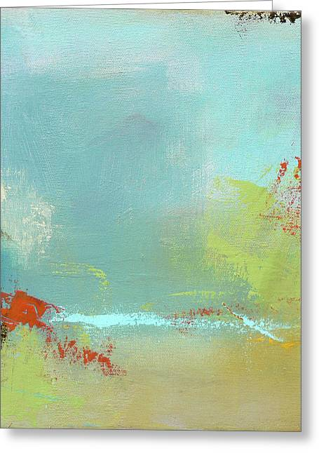 Vineyard Landscape Greeting Cards - Summer Landscape Greeting Card by Jacquie Gouveia