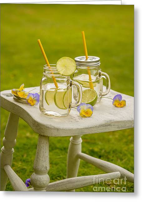Green Glass Greeting Cards - Summer Lemonade Greeting Card by Amanda And Christopher Elwell