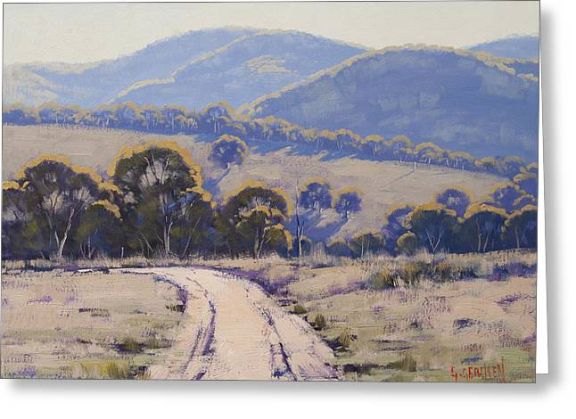 Hilly Greeting Cards - Summer light Lithgow Greeting Card by Graham Gercken