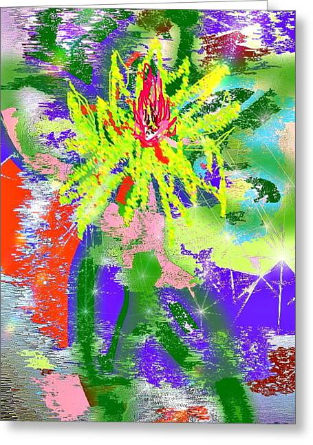 Enhanced Pastels Greeting Cards - Summer Lily Greeting Card by Desline Vitto