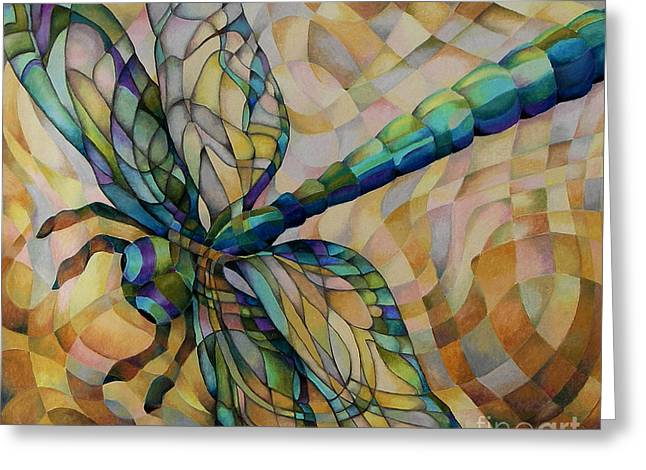 Dragonflies Pastels Greeting Cards - Summer Greeting Card by Marilyn Callahan