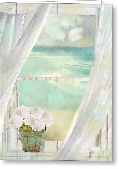 Sand And Sea Greeting Cards - Summer Me Greeting Card by Mindy Sommers