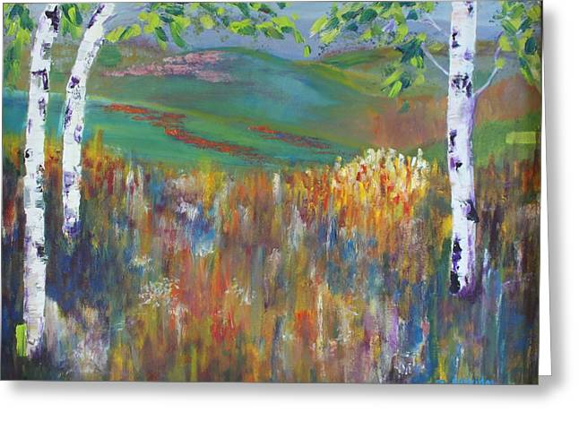 Abstract Nature Greeting Cards - Summer Meadow Greeting Card by Bev Alldridge