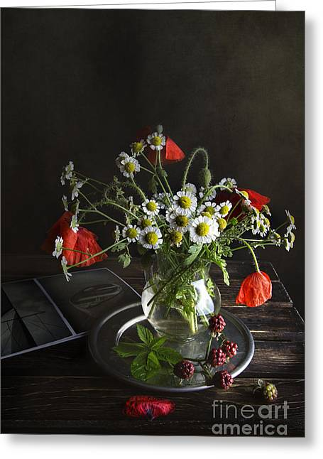 Tabletop Greeting Cards - Summer Mood Greeting Card by Elena Nosyreva