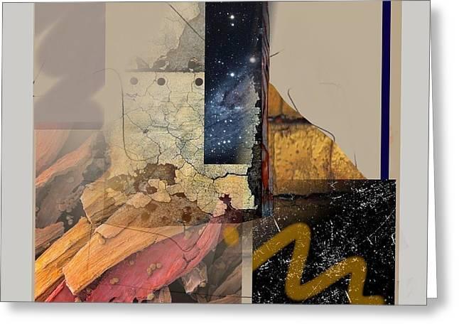 Abstract Handbag Drawing Greeting Cards - Summer Night 1 Greeting Card by Janis Kirstein
