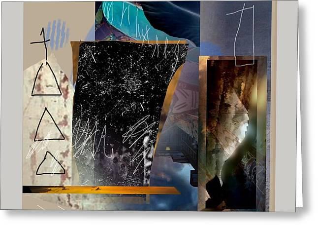 Abstract Handbag Drawing Greeting Cards - Summer Night 2 Greeting Card by Janis Kirstein