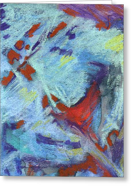 Figural Pastels Greeting Cards - Summer Nightime 1 Greeting Card by Michal Rezanka