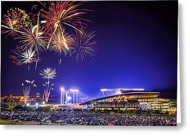 Firework Greeting Cards - Summer Nights at the K Greeting Card by Thomas Zimmerman