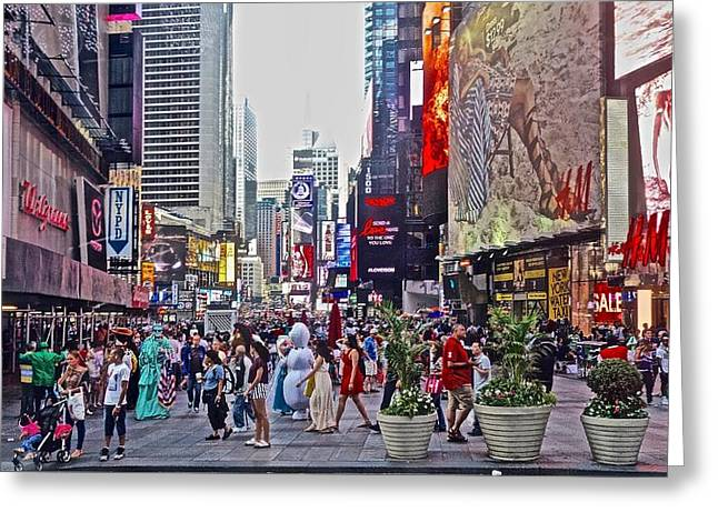Photo Art Gallery Greeting Cards - Summer on 42nd Street Greeting Card by Joan Reese