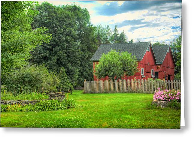 Barn Yard Greeting Cards - Summer On The Farm In Vermont Greeting Card by Michelle Maria
