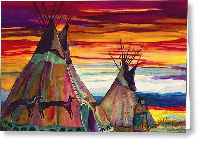 Summer On The Plains Greeting Card by Anderson R Moore