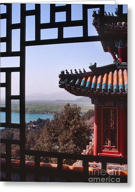 Summer Palace Greeting Cards - Summer Palace or Yi He Yuan Greeting Card by Sandra Bronstein
