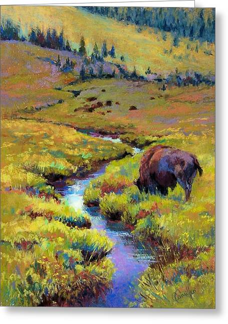 Buffalo River Pastels Greeting Cards - Summer Pastures Greeting Card by Christine  Camilleri